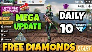 How To Get Free Diamonds In Freefire Battleground Mega Update
