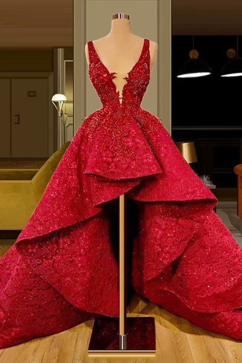 Red Lace Prom Dress, Prom Girl Dresses, Ball Dresses, Homecoming Dresses, Ball Gowns, Evening Dresses, Elegant Dresses, Pretty Dresses, Beautiful Dresses