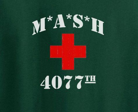 MASH 4077th Squadron Vintage USA Army Flag Men/'s T Shirt America Stars Stripes