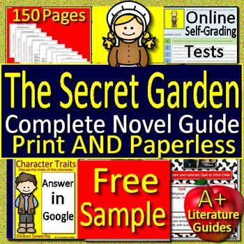 The Secret Garden Novel Study Free Google Classroom Distance