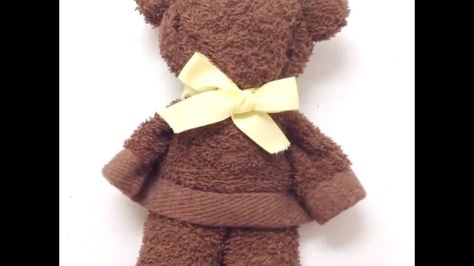 A bear made from a towel● 5-Minute Crafts