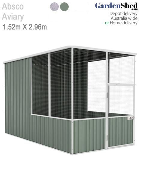 Absco Aviary 1 52m X 2 96m Bird Cage Aviary Flat Roof Repair Shed Bird Cage