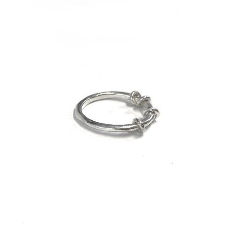 fidget spinner handmade sterling silver ring, perfect for anyone who suffers with anxiety