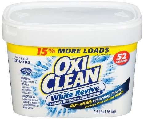 Oxiclean White Revive Laundry Whitener Stain Remover Powder 3 5lbs Stain Remover Laundry Stain Remover Oxiclean