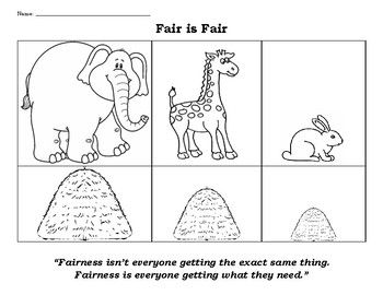 Fair Is Fair Fairness Vs Equal In 2021 Counseling Lessons Coloring Pages Fair
