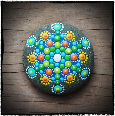 Jewel Drop Mandala Stone green supreme extreme by ElspethMcLean, $25.00