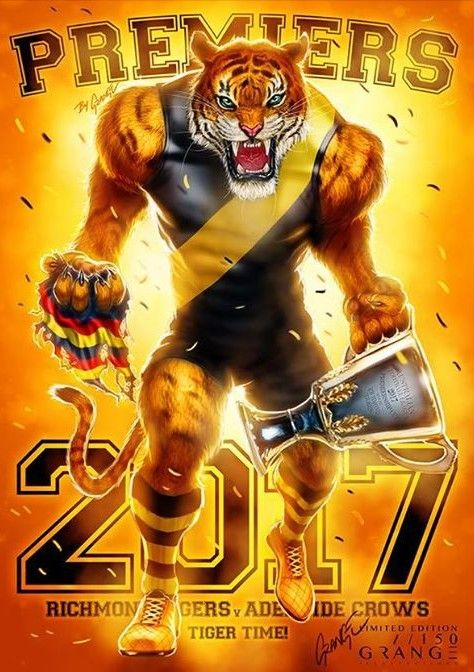 2017 Premiers Richmond Tigers Richmond Football Club Richmond Tiger