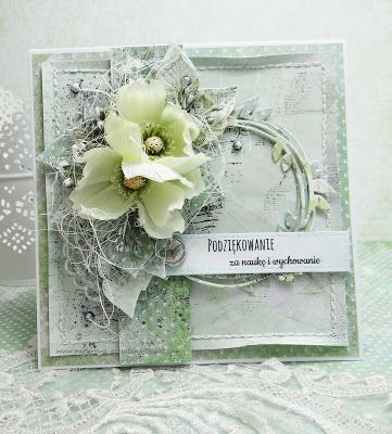 Papierowa Przystan Pastelowa Kartka Podziekowanie Flower Cards Shabby Chic Cards Cards Handmade