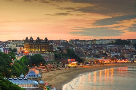 Scarborough in North Yorkshire, England, at twilight. Photo by Mick Carver via PicturesOfEngland.com