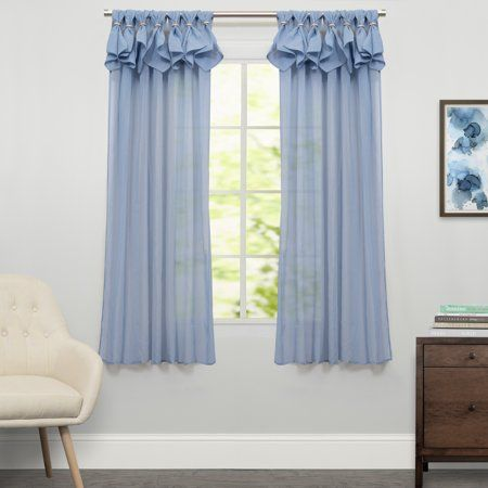 Breeze Semi Sheer Window Curtain Single Panel 63 Inchx54 Inch Size
