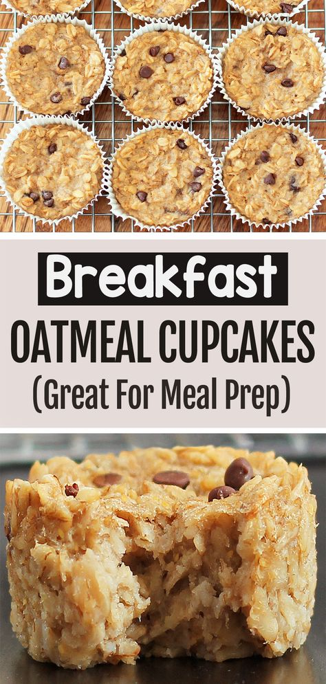 Healthy Oatmeal Recipes, Healthy Breakfast Recipes, Oatmeal Cupcakes, Breakfast Cupcakes, Yummy Treats, Yummy Food, Trout Recipes, Peanut Butter Recipes, Breakfast Smoothies