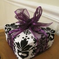 Make a Gift Box From Scrapbook Paper