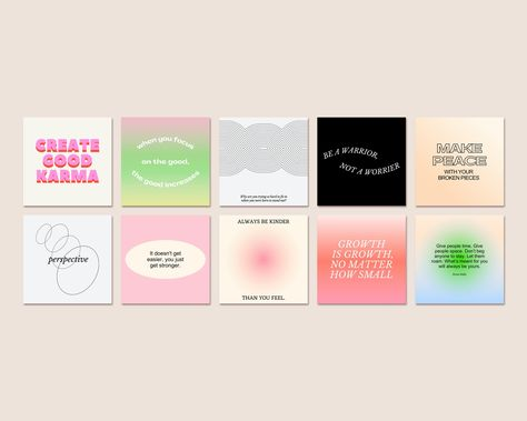 Instagram Inspirational Post Templates. Instagram Template For Coaches. Motivational Quotes. Instagram Feed Layout. Blogger Brand Kit.