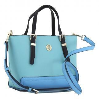Kleine Handtasche Tommy Hilfiger Honey Small Tote Turkis Blau Bags More Handtasche Blau Handtaschen Kleine Handtasche