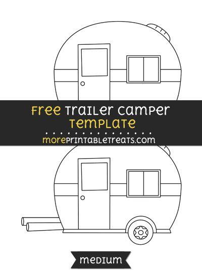 Free Trailer Camper Template Medium Applique Templates Free