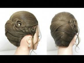 Easy Bun Hairstyle Simple Quick Updo For Long Medium Hair Youtube Easyhairupdos Medium Hair Styles Easy Updos For Medium Hair Long Hair Tutorial