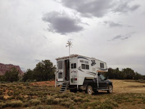 Windwalker Wind Turbine Truck Camper Slide In Truck Campers Rv