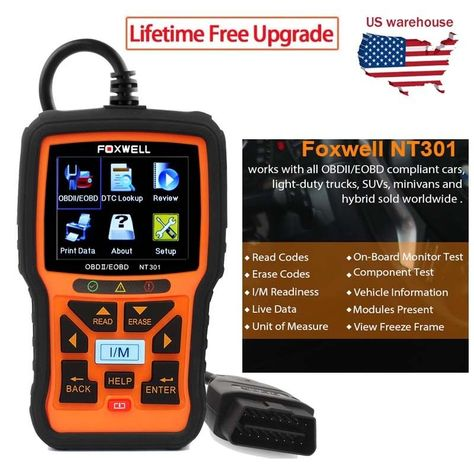 Code Car Reader Fault Scanner Diagnostic Obd2 Tool Engine Eobd OBDII Can Pretty
