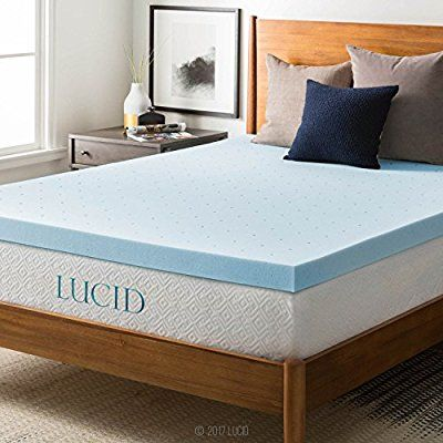 Amazon Com Lucid 3 Inch Gel Memory Foam Mattress Topper Queen Home Kitchen Memory Foam Mattress Topper Foam Mattress Topper Best Mattress
