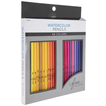 The Fine Touch Watercolor Pencils 48 Piece Set Colored Pencils