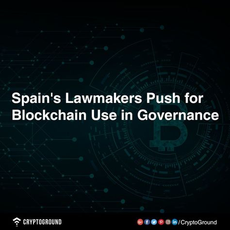#Spain's main conservative party believes the #government should utilize #blockchain to operate the country's public #administration more efficiently.  Follow CryptoGround for daily updates.  #cryptocurrency #bitcoin #blockchain #crypto #btc #ico #ethereum #trading #eth #market #news #airdrop #ltc #xrp #mining #usd #ripple #altcoin #litecoin #monero #coin #xlm #cryptocurrencymarket   -  #Altcoin #AltcoinMining #AltcoinNews