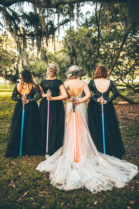May the fourth (and the force) be with you. Cute Wedding Ideas, Wedding Goals, Wedding Themes, Perfect Wedding, Wedding Photos, Dream Wedding, Wedding Day, Wedding Inspiration, Wedding Dresses