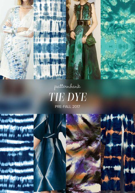 Raquel Allegra / Indigo Blue Shibori Tie Dye pattern by Karen Banson / Elie Saab / Tie Dyed by Samantha Downey / Tie Dye Indigo Stripe by Ahmet Senel / Issey Miyake / Blotted Stripe by Elena Malik