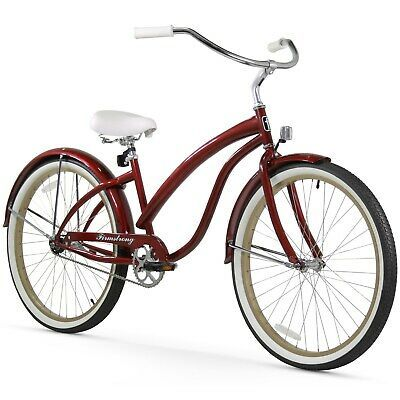 Details About 26 Firmstrong Bella Fashionista Single Speed Women S Beach Burgundy In 2020 Beach Cruiser Bicycle Cruiser Bicycle Cruiser Bike