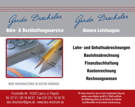 Visitenkarte Buchhaltungsservice Vs Rs Visitenkartendesign