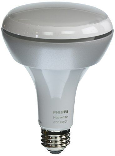 Philips Hue White and Color Ambiance 1st Generation BR30 60W Equivalent Dimmable LED Smart Flood Light Older Model Compatible with  Alexa Apple HomeKit and Google Assistant