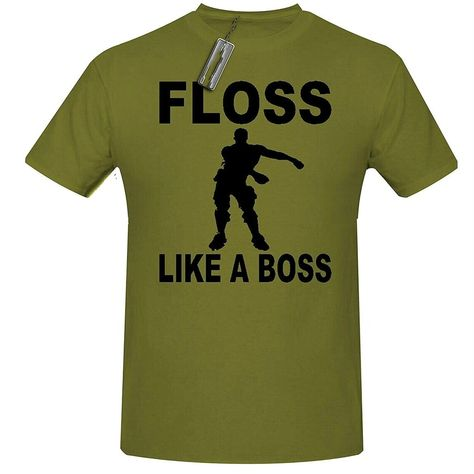 b0f335ff5 Fortnite Floss Like A Boss T Shirt Gaming T Shirt, Men's Gaming T Shirt