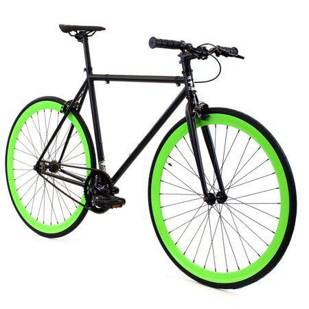 Golden Cycles Benjamin Black Green Fixed Gear 55 Cm Walmart Com Fixed Gear Bike Single Speed Bike Fixed Gear