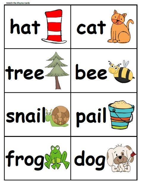 rhyming word worksheets for preschoolers | Download a FREE ...