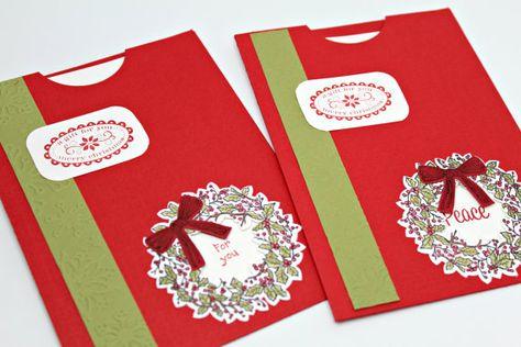 Unique Christmas Cards- Christmas Wreath Peek-a-Book Cards- Card