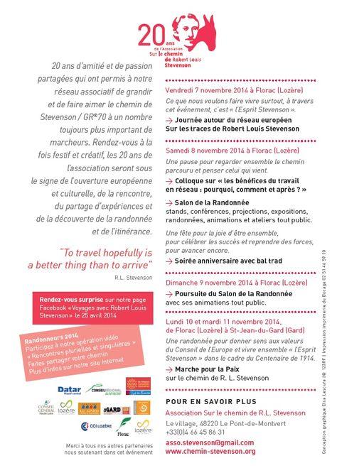 On Fete Les 20 Ans De L Association Du Chemin De Stevenson 20 Ans Je Te Veux