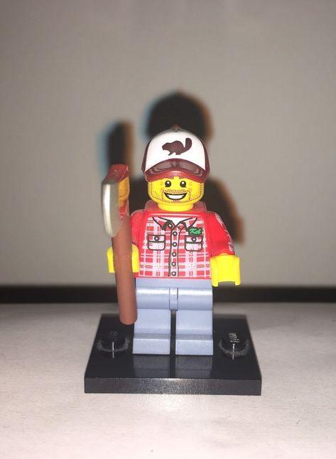 New LEGO Mini Figure Lumberjack Series 5