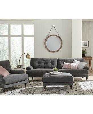 Shop Brenata Fabric Sofa Collection Online At Macys Com The Deep Seat And Low Back Of The Brenata Sofa Coll Living Room Sets Furniture Sofa Mattress Furniture