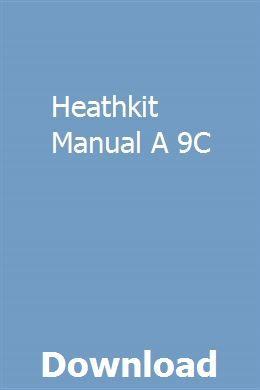 heathkit manuals download