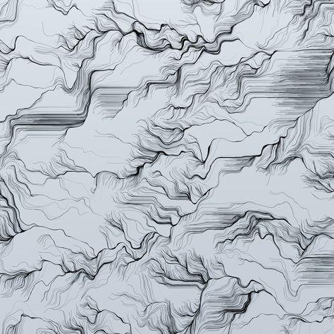 Topo Sketch - 12\ x 12\