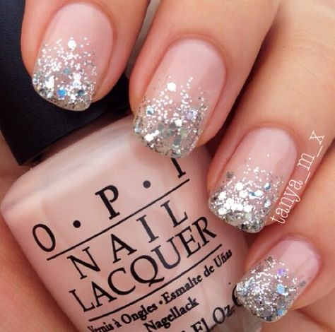 60 glitter nail art designs silver glitter nails gradient nails 60 glitter nail art designs silver glitter nails gradient nails and glitter nails prinsesfo Images