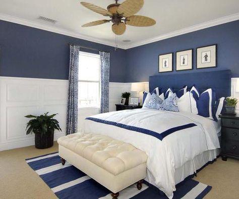 Maritimes Schlafzimmer Schlafzimmer In Weiss Und Blau Einrichten