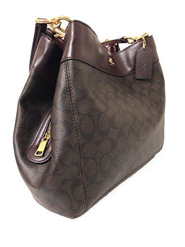 Signature Canvas New Coach Bag In Oxblood Lexy Shoulder Buy F27972 TJlFcuK31