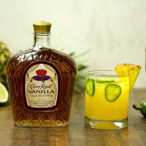 Fire up the grill and celebrate warmer days with this Crown Royal Vanilla cocktail. A simple spicy-sweet Vanilla Piña pairs perfectly with your backyard BBQ.