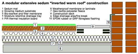 Image result for inverted warm green roof | shed | Warm roof