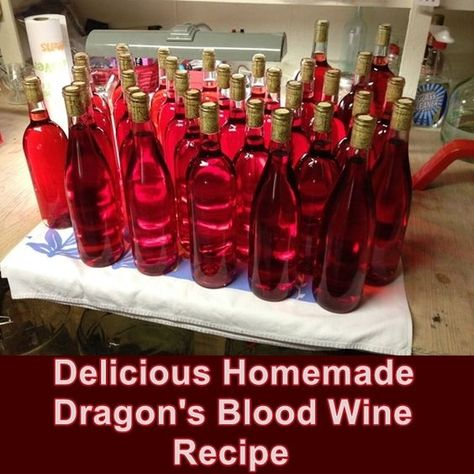 Delicious Homemade Dragon's Blood Wine Recipe – Homesteading – The Homestead… Delicious Homemade Dragon's Blood Wine Recipe – Homesteading – The Homestead Survival .Com - Fresh Drinks Homemade Wine Recipes, Homemade Alcohol, Homemade Liquor, Brewing Recipes, Homebrew Recipes, Beer Recipes, Wine And Liquor, Wine And Beer, Wine Drinks
