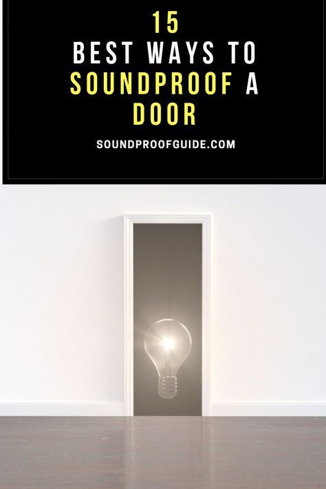Soundproof Door Soundproofing Diy Diy Soundproofing