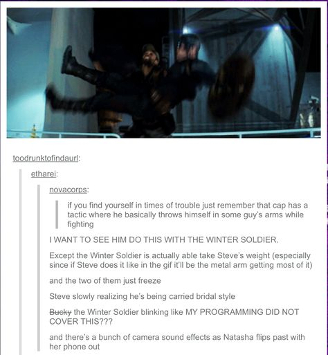 These are the reasons I love my fandoms.  They come up with ridiculous stories like this that I love.