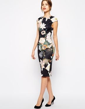 090500e03b8b1 Enlarge Ted Baker Midi Dress in Opulent Bloom Print