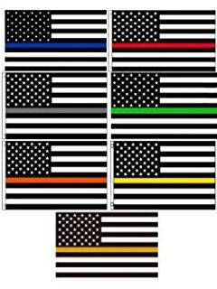 Red Line Flag Blue Line Flag Yellow Line Flag Cop Decal Firefighter Decal Ems Decal Dispatch Decal First Responders Police Fire Flag Gifts Blue Line Flag Yellow Line Firefighter Decals