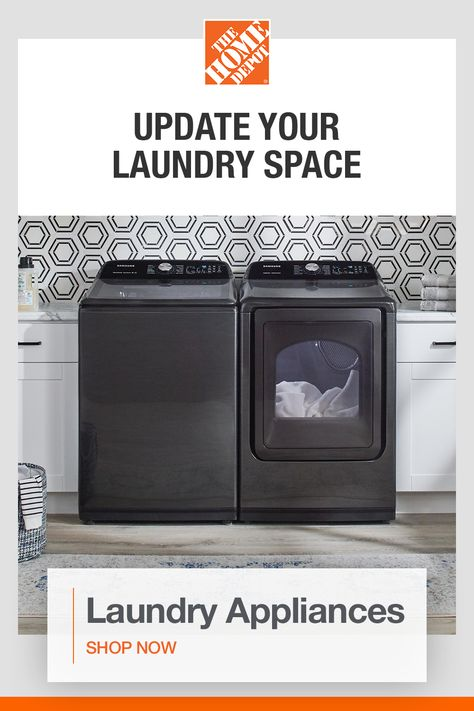 Give your laundry space a facelift with savings on select appliances. Put the finishing touches on your laundry redesign with top name-brand appliances for every style. Click to shop laundry appliances at The Home Depot.​